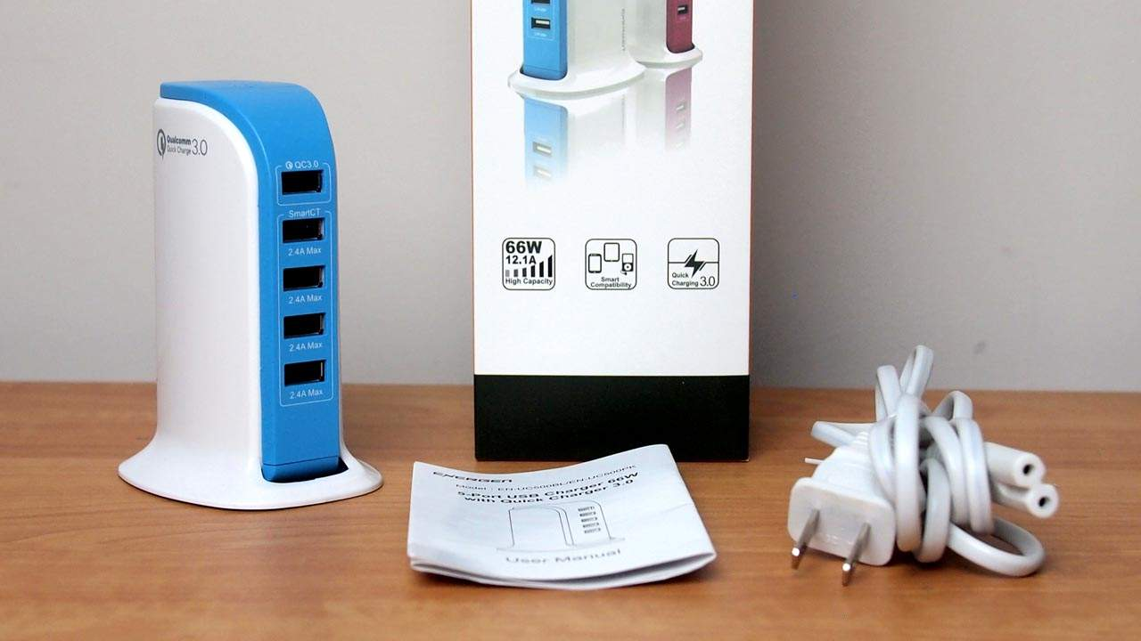 MEGATech Video Reviews: Energen 5-Port USB Charger with Quick Charge 3.0