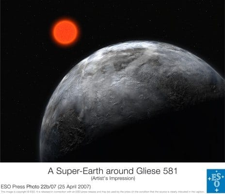 Super-Earth Orbits Red Dwarf