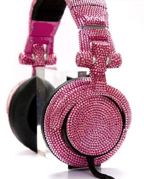 Get Your Bling On With Some Swarovski DJ Headphones
