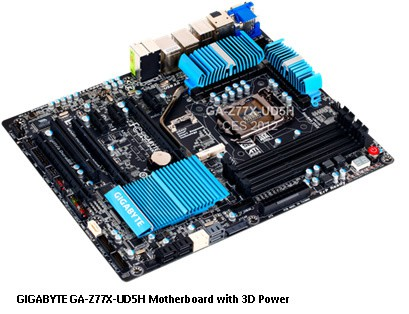 GIGABYTE Demonstrates New 3D Power Design, 3D BIOS, and Other Motherboard Technologies