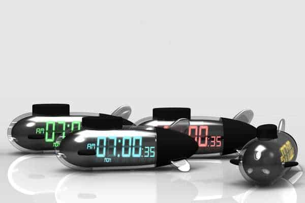 Sleeping In Meets Its Watery Match With the Sub Morning Alarm Clock