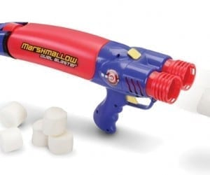 Double Your Food Fight Fun With the Rapid Reload Double Marshmallow Blaster