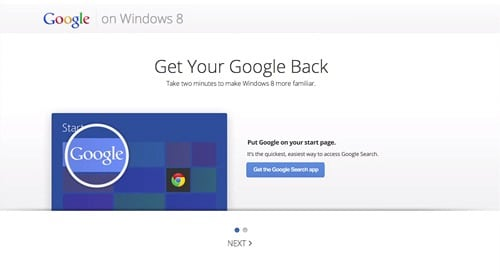 Google Goes After Windows 8 Users