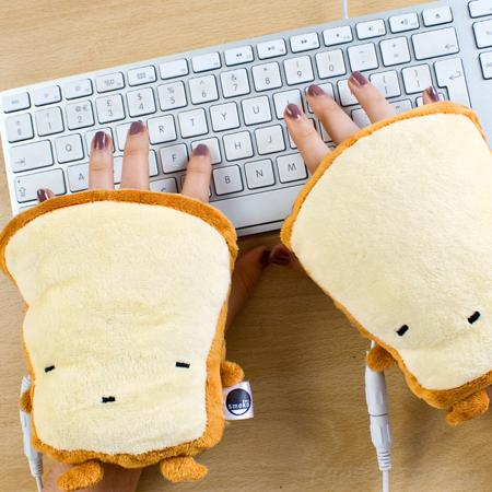 USB Toast Hand Warmers: Silly, Yet Practical