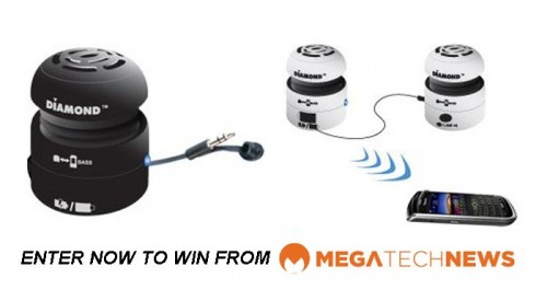 CLOSED! MEGATech Weekly Giveaway 2 of 3: Win a Diamond Multimedia Mini Rocker Mobile Bluetooth Speaker