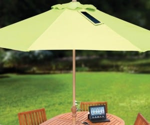 Charge Your Devices Without Missing Your Barbecue with the Device-Charging Market Umbrella