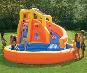 Splash Your Way to Summer Fun with the Twist Inflatable Water Slide with Pool