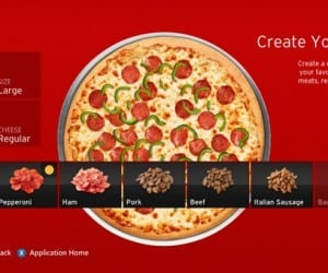 Order Pizza Hut From Your Xbox 360