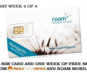 MEGATech Weekly Giveaway 4 of 4: Win a Roam Mobility SIM Card with One Week of US Service