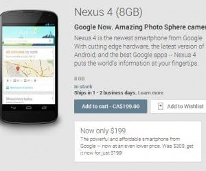 Nexus 4 Smartphone Only $199 on Google Play Store