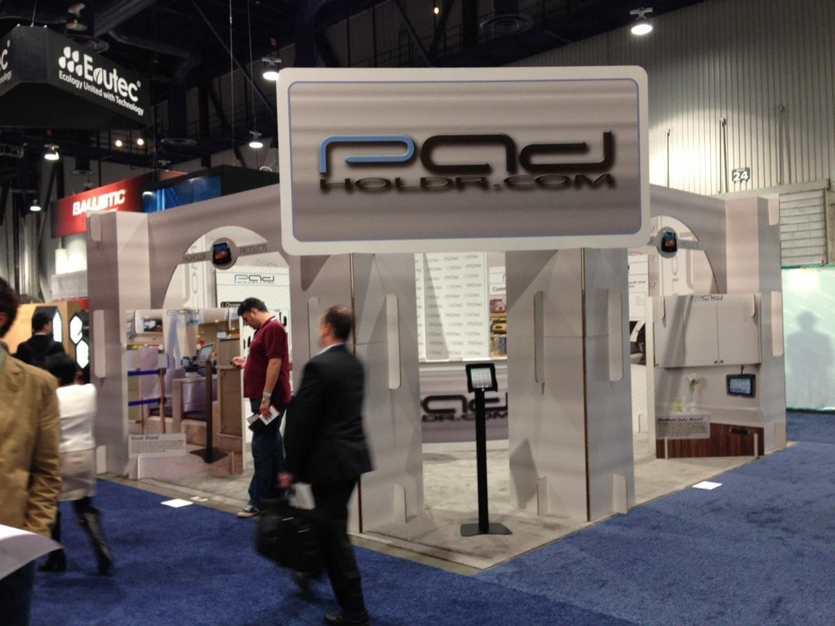 Padholdr Cardboard Booth Grabs Attention at CES 2014
