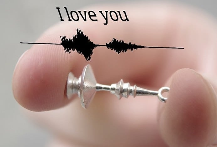 """Voice Print Jewelry: The Ultimate Customized """"I Love You"""""""