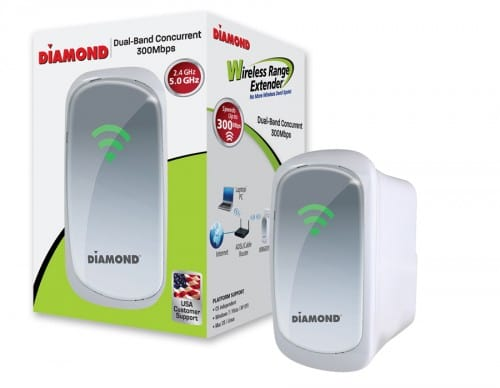 Diamond Dual Band 2.4Ghz5.0Ghz Wireless 802.11n Range Extender