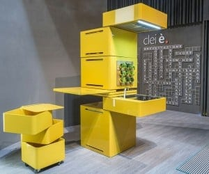 A 27-Inch Square Kitchen Is Possible with Clei