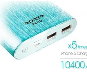 ADATA PV110 Power Bank Boasts 3.1A Dual USB Charging