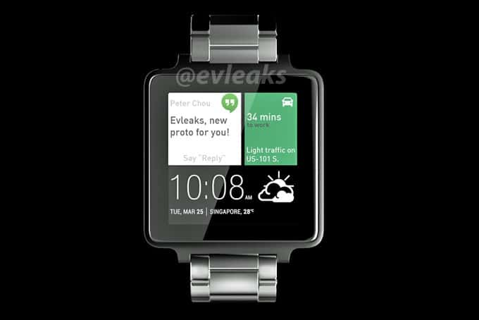 First Look at HTC Smartwatch with Android Wear