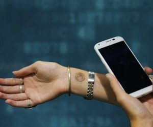 Motorola Digital Tattoo Unlocks Your Smartphone