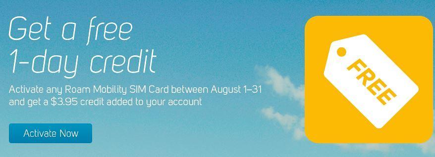 Buy a Roam SIM Card, Get One Day of Free Talk+Text+Data
