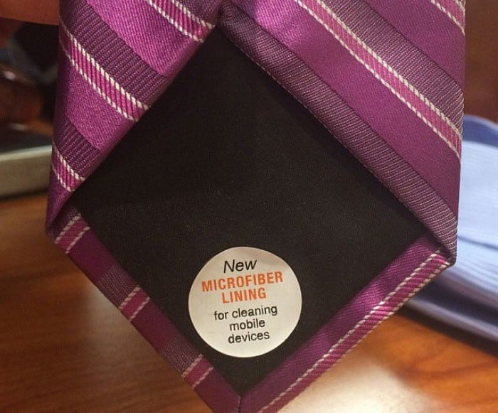 Microfiber Lined Tie Kills Two Birds With One Stone