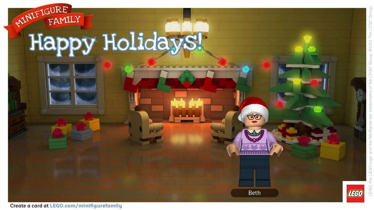 Minifigure Family Makes Holiday Cards Awesome!