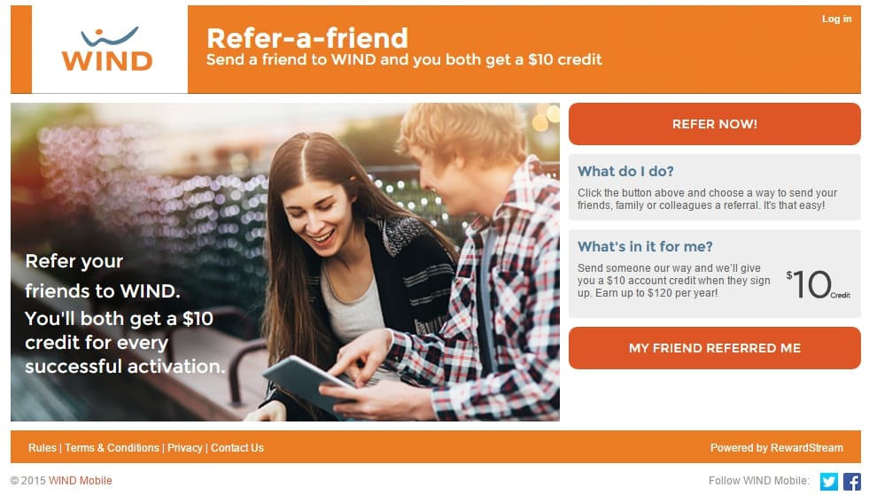 The $10 Refer-A-Friend Program at Wind Mobile