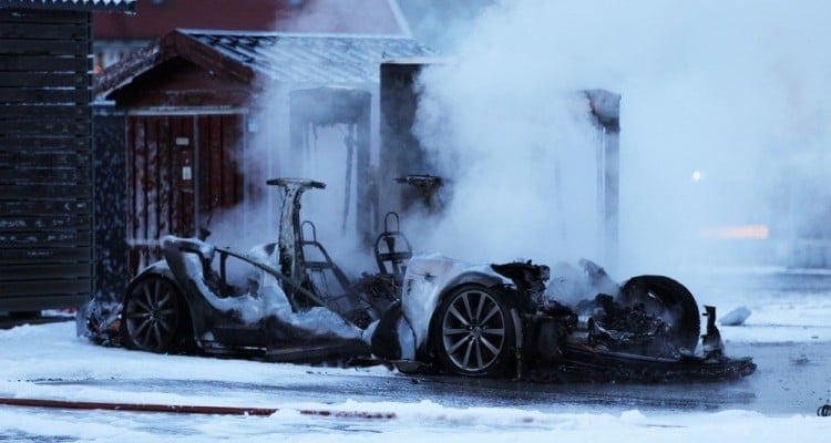 Tesla Model S Catches Fires in Supercharging Station