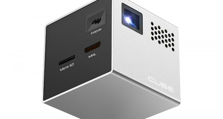 """The Cube Projects 120"""" Image From Your Smartphone"""