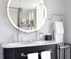 Never Miss a Thing With the Trinity Lighted Mirror TV