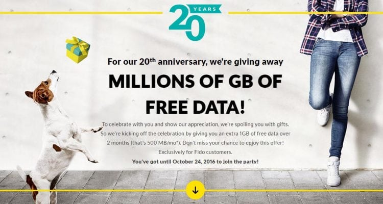 How to Get 1GB of Free Data from Fido