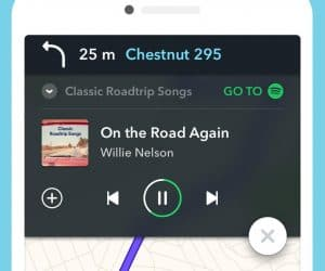 Waze and Spotify, Together at Last
