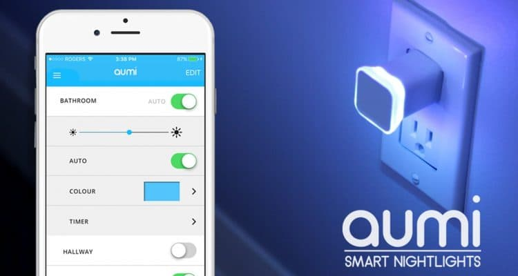 The Aumi Mini Smart Nightlight Offers Notifications and Colors