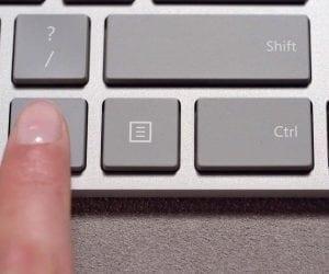 New Microsoft Modern Keyboard with Hidden Fingerprint Reader