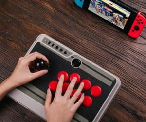 8Bitdo NES30 Arcade Stick for Real Switch Street Fighters