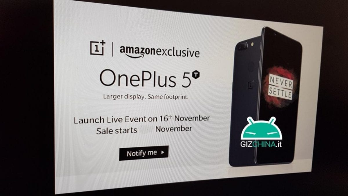 Upcoming OnePlus 5T Is Amazon Exclusive?