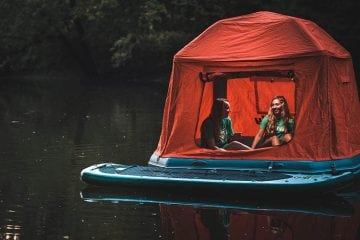 Shoal Tent is the Ultimate Camping Waterbed