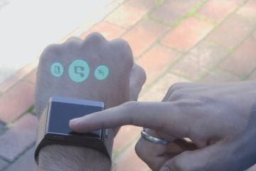 The Asu Smartwatch Projects Content onto the Back of your Hand