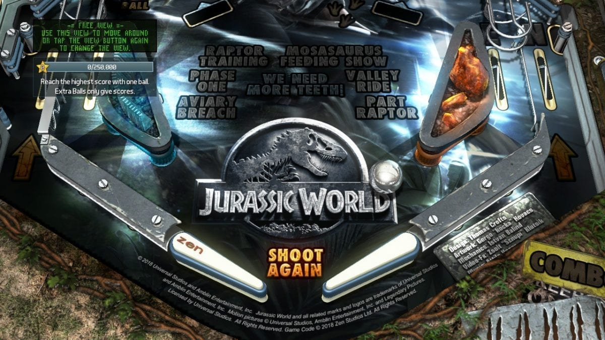 MEGATech Reviews: Pinball FX3 - Jurassic World Pinball