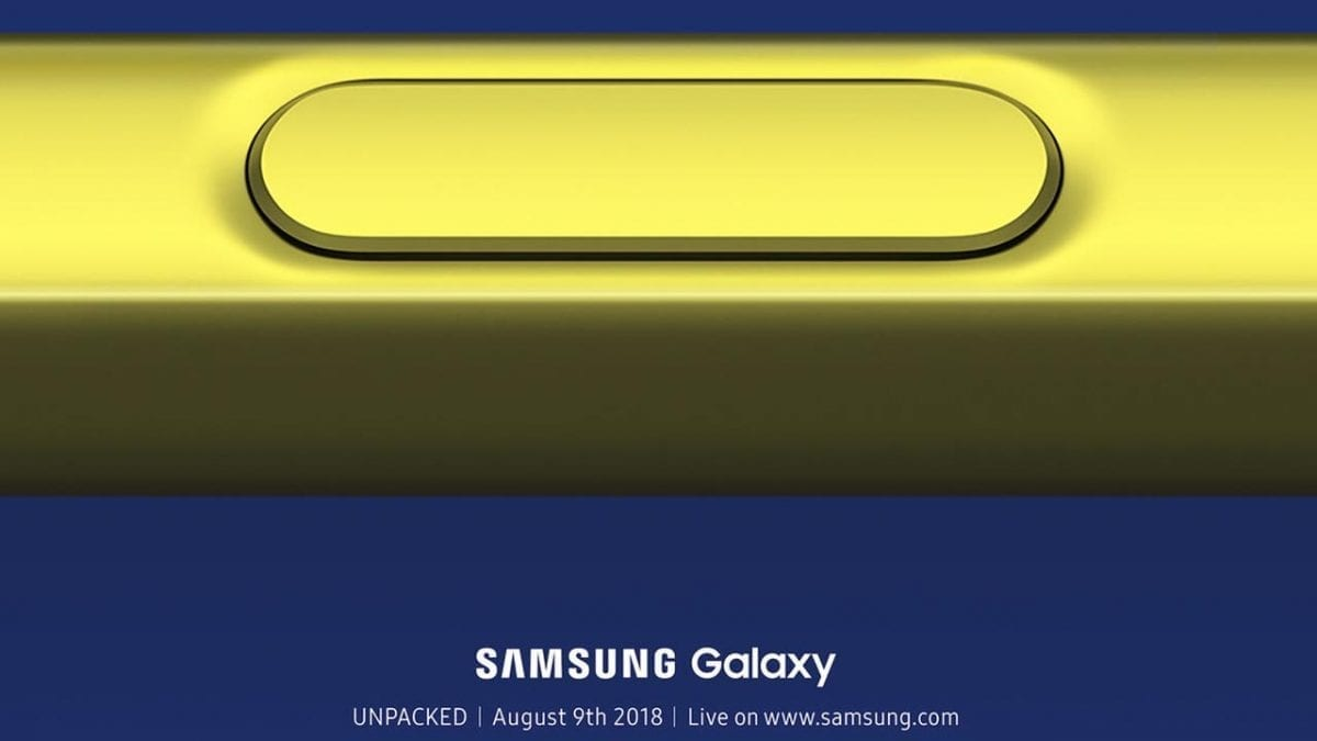 Samsung Galaxy Note 9 Gets Unpacked on August 9