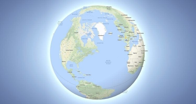 Google Maps Responds to Flat Earthers With Round Globe Mode