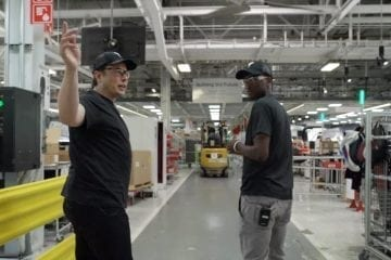 MKBHD Tours the Tesla Factory with Elon Musk