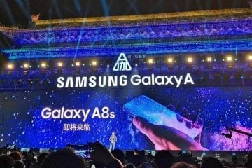 Samsung Galaxy A8s Replaces Notch with a Hole