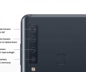 Four Camera System on Samsung Galaxy A9