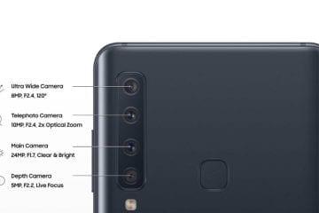 Four Camera System on Samsung Galaxy A9